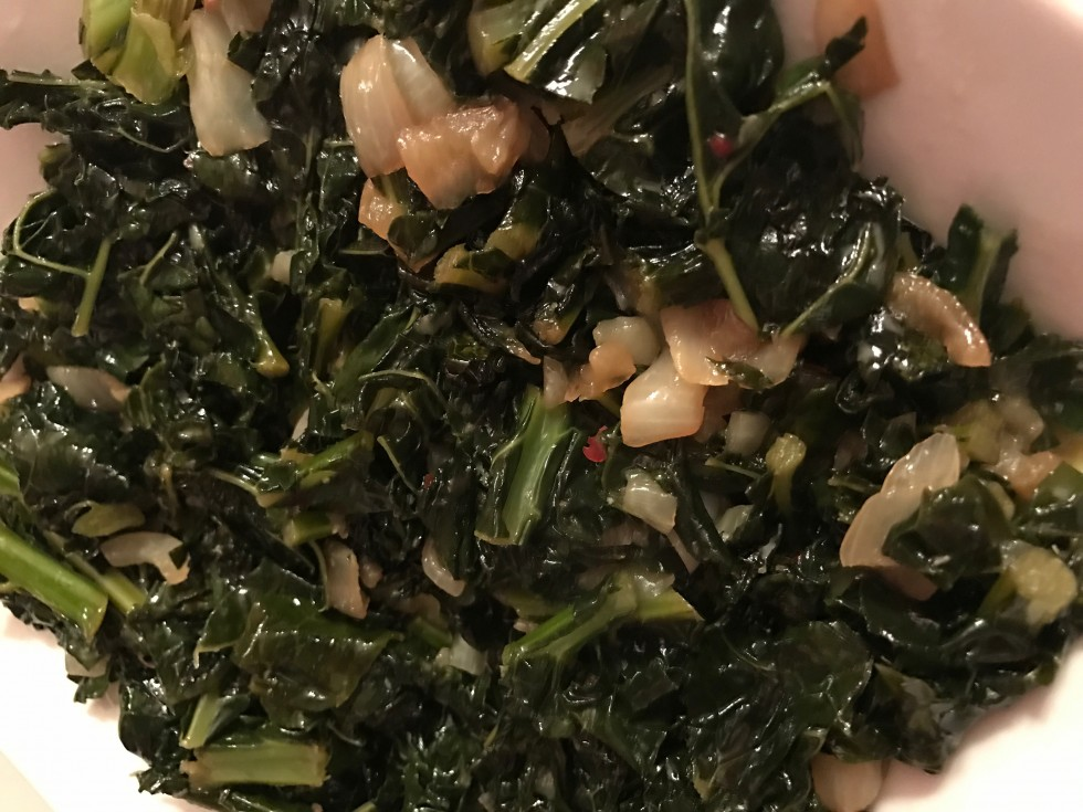 Sautéed Kale and Onions Recipe image