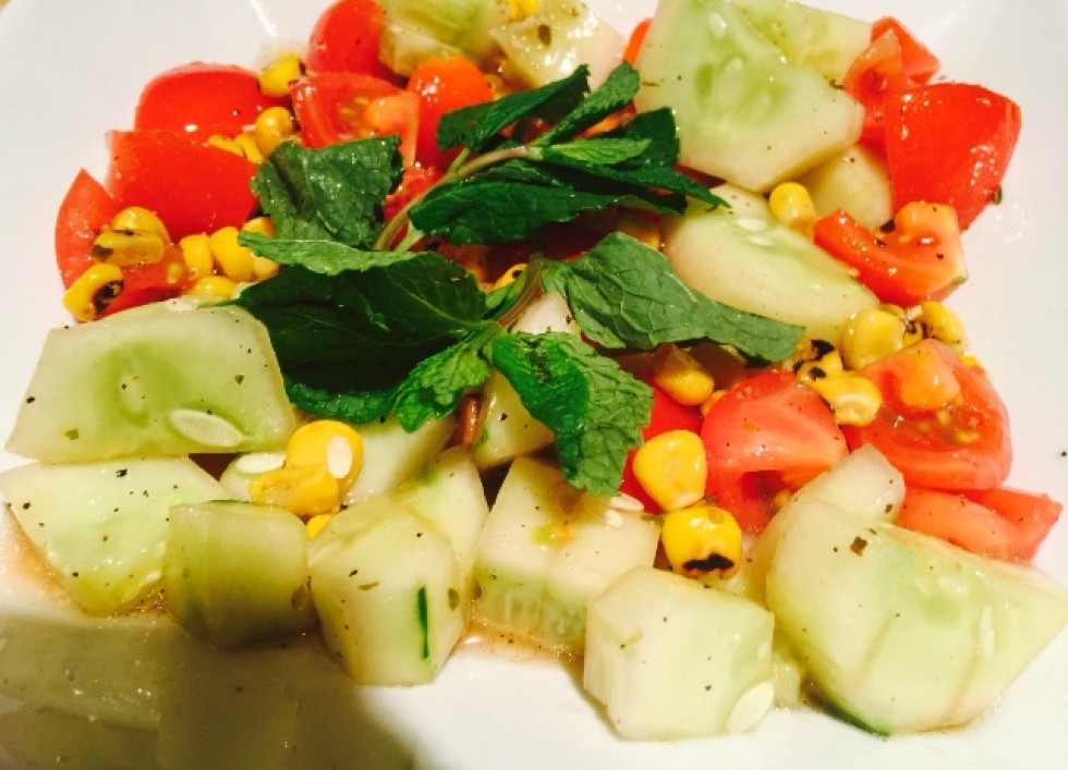 grill corn tomatoes